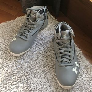 Grey men's Under Armour Basketball shoes